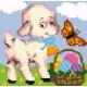 Owieczka z koszykiem z jajkami (No 5169)