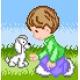 Chłopczyk i piesek (No 5528)