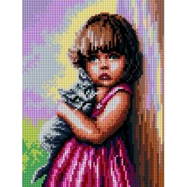 Dziewczynka z kotkiem (No 5498)