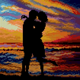 Zachód słońca zakochani (No 7295)