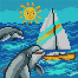 Delfinki na morzu (No 5718)
