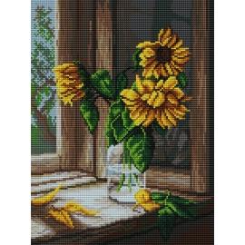 Słoneczniki w oknie (No 7129)