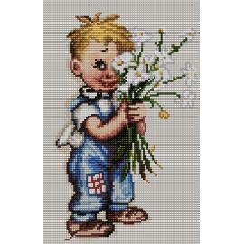 Chłopiec z kwiatami (No 7164)