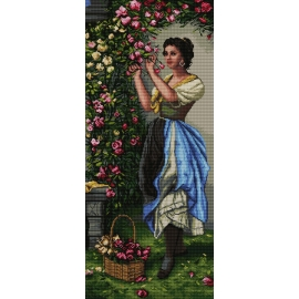 Kobieta z kwiatami wg H. Zatzka (No 7169)