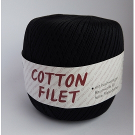 KORDONEK COTTON FILET CZARNY (570M/100G)