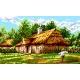 Haft krzyżykowy - kanwa z nadrukiem Wiejska chata (No 367)