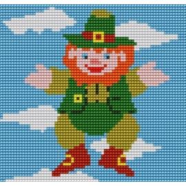 Kanwa do haftu krzyżykowego dla dzieci - Skrzat w chmurach (No 5059)