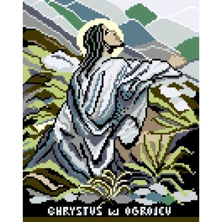 Haft krzyżykowy - do wyboru: kanwa z nadrukiem, nici Ariadna/DMC, wzór graficzny - Chrystus (No 5039)