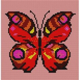 Haft krzyżykowy dla dzieci - Motylek (No 53)