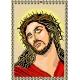 Haft krzyżykowy - do wyboru: kanwa z nadrukiem, nici Ariadna/DMC, wzór graficzny - Chrystus (No 5015)