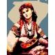 Haft krzyżykowy - do wyboru: kanwa z nadrukiem, nici Ariadna/DMC, wzór graficzny - Cyganka z mandoliną wg Camille Corot (No 339)
