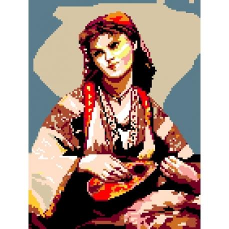 Cyganka z mandoliną wg Camille Corot (No 339)