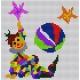 Kanwa z nadrukiem kolorowym dla dzieci - Klaun z piłką (No 88)