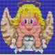 Haft krzyżykowy - do wyboru: kanwa z nadrukiem, nici Ariadna/DMC, wzór graficzny - Aniołek (No 5030)