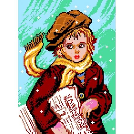 Haft krzyżykowy - kanwa z nadrukiem Tom (No 371)