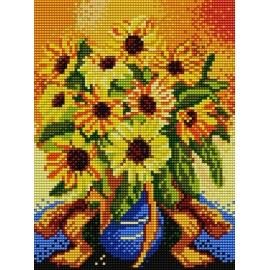 Haft krzyżykowy - obrazek do haftowania - Słoneczniki (No 5023)