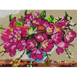 Haft krzyżykowy do haftu ściegiem krzyżykowym -Kwiatki w wazonie (No 5027)