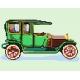 Haft krzyżykowy - do wyboru: kanwa z nadrukiem, nici Ariadna/DMC, wzór graficzny - Samochód (No 5055)