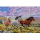 Haft krzyżykowy - do wyboru: kanwa z nadrukiem, nici Ariadna/DMC, wzór graficzny - Galopujące konie (No 5079) VI