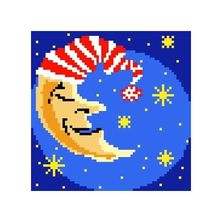 Kanwa z nadrukiem dla dzieci - Księżyc (No 5071)