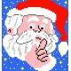 Haft krzyżykowy - do wyboru: kanwa z nadrukiem, nici Ariadna/DMC, wzór graficzny - Święty Mikołaj (No 5077)