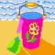 Obrazek do haftowania dla dzieci - Wiaderko na plaży (No 5057)