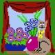 Haft krzyżykowy - do wyboru: kanwa z nadrukiem, nici Ariadna/DMC, wzór graficzny - Kotek w oknie (No 5056)