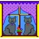 Haft krzyżykowy - do wyboru: kanwa z nadrukiem, nici Ariadna/DMC, wzór graficzny - Kotki (No 52)