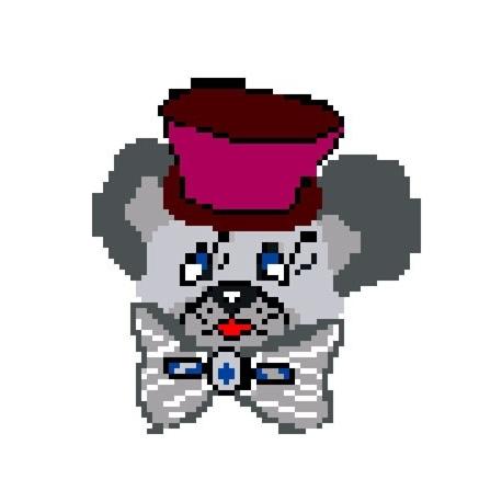 Haft krzyżykowy - do wyboru: kanwa z nadrukiem, nici Ariadna/DMC, wzór graficzny - Myszka w kapeluszu (No 56)