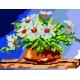 Haft krzyżykowy - do wyboru: kanwa z nadrukiem, nici Ariadna/DMC, wzór graficzny - Margaretki (No 314)
