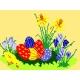 Haft krzyżykowy - do wyboru: kanwa z nadrukiem, nici Ariadna/DMC, wzór graficzny - Wielkanoc (No 549)