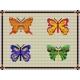 Haft krzyżykowy - do wyboru: kanwa z nadrukiem, nici Ariadna/DMC, wzór graficzny - Motyle (No 564)