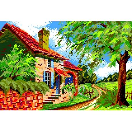 Krajobraz z domem (No 539)