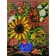 Kanwa z nadrukiem - Bukiet kwiatów (No 518)