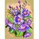 Haft krzyżykowy - do wyboru: kanwa z nadrukiem, nici Ariadna/DMC, wzór graficzny - Bukiet kwiatów (No 535)
