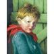 Haft krzyżykowy - do wyboru: kanwa z nadrukiem, nici Ariadna/DMC, wzór graficzny - Płaczący chłopiec (No 7024)