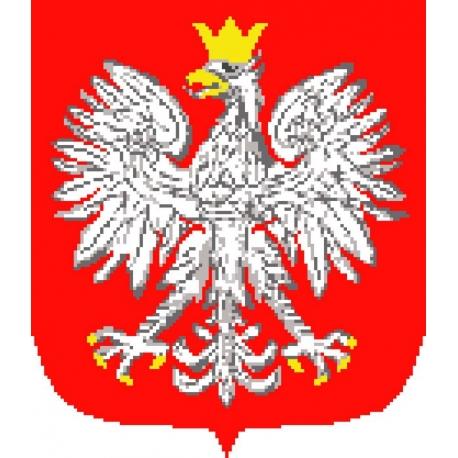 Obrazek do haftowania - Godło Polski (No 306)