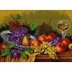 Haft krzyżykowy - do wyboru: kanwa z nadrukiem, nici Ariadna/DMC, wzór graficzny - Martwa natura - owoce (No 583)