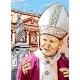 Haft krzyżykowy - do wyboru: kanwa z nadrukiem, nici Ariadna/DMC, wzór graficzny - Jan Paweł II (No 5105)