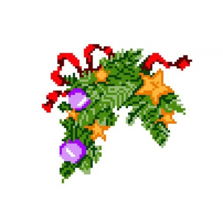 Haft krzyżykowy - do wyboru: kanwa z nadrukiem, nici Ariadna/DMC, wzór graficzny - Stroik (No 42)