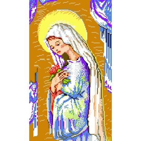 Kanwa z nadrukiem religijnym - Madonna (No 340)
