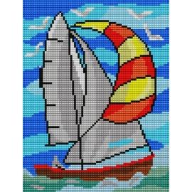 Wzór do haftowania - Łódka, żagłowka (No 320)
