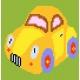 Obrazek do haftu dla dzieci -  Żółty samochód (No 5062)