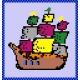 Haft krzyżykowy - do wyboru: kanwa z nadrukiem, nici Ariadna/DMC, wzór graficzny - Statek (No 566)