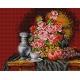 Haft krzyżykowy - do wyboru: kanwa z nadrukiem, nici Ariadna/DMC, wzór graficzny - Martwa natura bukiet róż (No 505)