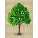 Haft krzyżykowy - do wyboru: kanwa z nadrukiem, nici Ariadna/DMC, wzór graficzny - Drzewo (No 137)