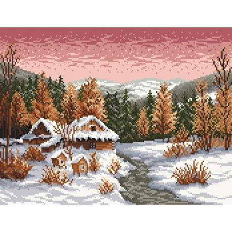 Zimowy wieczor wg S.Sikora (No 94025)