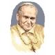 Haft krzyżykowy - do wyboru: kanwa z nadrukiem, nici Ariadna/DMC, wzór graficzny - Jan Paweł II (No 94037)
