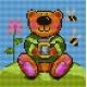 Haft krzyżykowy - do wyboru: kanwa z nadrukiem, nici Ariadna/DMC, wzór graficzny - Miś ze słojem miodu (No 5106)