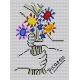 Haft krzyżykowy - zestaw do haftowania ściegiem krzyżykowym -Bukiet kwiatów wg Picasso (No 5114)